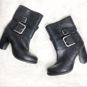 Nine West black ankle boots 7
